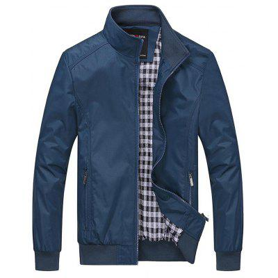 Men'S Casual Stand Collar Lightweight Slim Jacket
