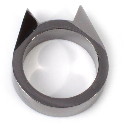 Cat Ear Pattern Single Finger Self-defense Ring Window Breaking Device for Female Outdoor Self-protection