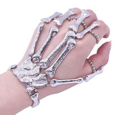 Exaggerated Stretch Metal Skeleton Bracelet Halloween Punk Ghost Hand Jewelry Gift