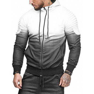 Men Comfortable Hoodie Hooded Long Sleeve Zipper