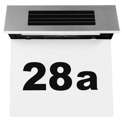 Solar Powered 4 LED House Number Light Box