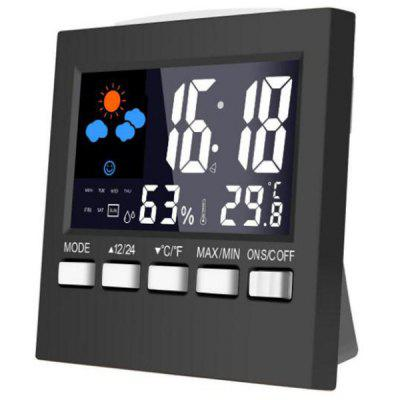 2159T Color Screen Weather Station Thermometer Electronic Alarm Clock