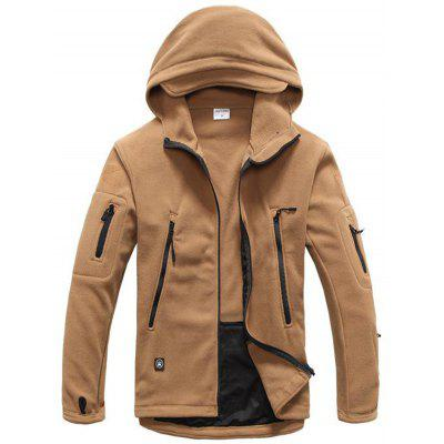 Men Tactical Military Style Hooded Warm Coat