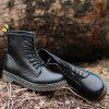 Fashion Solid Color Durable Martin Boots - BLACK
