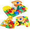 DIY Variety Building Blocks Track Ball Maze Slides Spelling Educational Toys 52pcs - MULTI