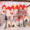Old Man Doll Small Hanging White Pine Cone Doll Hanging Tree 3PCS - RED