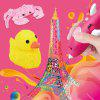 Dolphin Modeling 3D Puzzle DIY Low Temperature Painting Pen with USB Charging - HOT PINK
