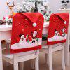 New Non-woven Chair Cover Cartoon Old Man Snowman Christmas Decoration - RED