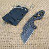 Small Straight Knife Outdoor Tool Camping High Hardness - BLACK