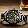 Skeleton Automatic Watch Men Waterproof Flying Tourbillon Mechanical Watches Mens Self Winding Horloges Mannen Dropship - BLACK