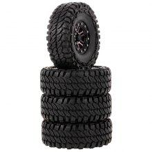 Alloy Wheel Rims Tyre for 1/10 Traxxas HSP Redcat Tamiya Axial SCX10 D90 Hpi
