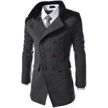 Gearbest Men's Coats Stylish Turn-down Collar Comfort Warm