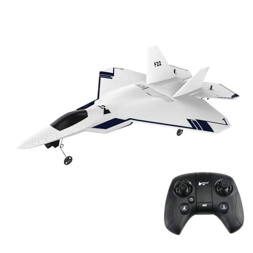 HUBSAN F22 Remote Control Aircraft with GPS Fixed High Key Return Function Built-in 720P Camera - WHITE STANDARD VERSION: F22 + HT015B