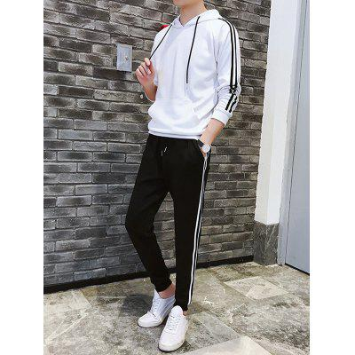 Men Sweater Hooded Hoodies Jacket Casual Suit