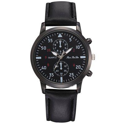 Fanteeda FD301 New Simple Casual PU Leather Quartz Men's Watch