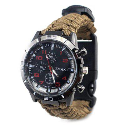 Multifuncțional Outdoor Compass Termometru Fire Stick Survival Watch