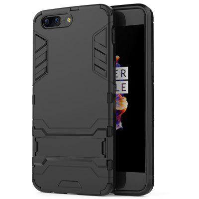 Armor All-inclusive with Bracket Three-in-one Matte Drop-proof Protective Shell Mobile Phone Case for One Plus 5