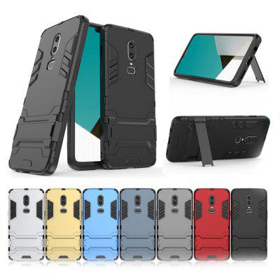 Three-in-one Matte Drop-proof Protective Mobile Phone Case for One Plus 6
