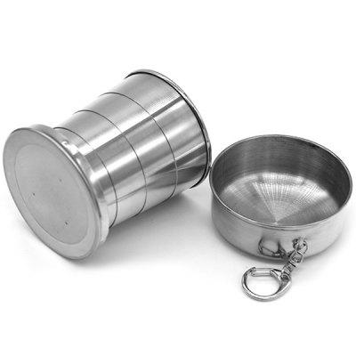 Stainless Steel Telescopic Collapsible Folding Cup
