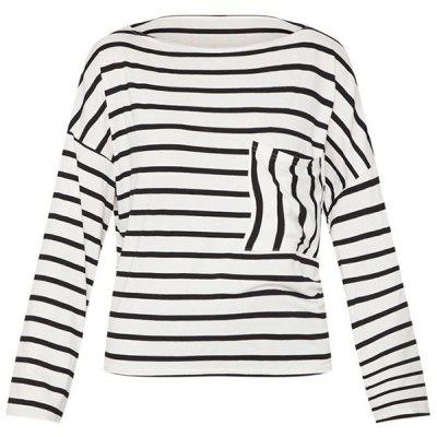 Autumn Women's Shirt Classic Striped Long-sleeved T-sleeved