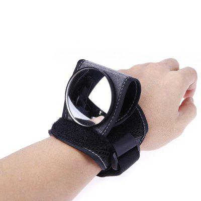 Bicycle Rearview Mirror With Wrist Strap Arm 360 Degree Rotating Mirror