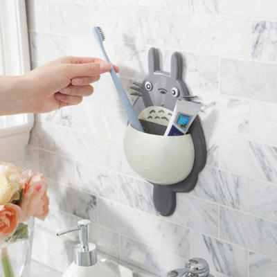 Powerful Three Suction Cup Multi-function Toothbrush Holder