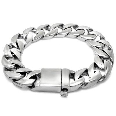 Titanium Steel Casting Button Fashion Bracelet