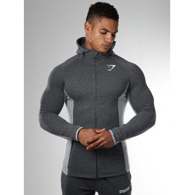 Men'S Gym Zipper Long Sleeve Bodybulding Shark Hoodies Sweatshirts