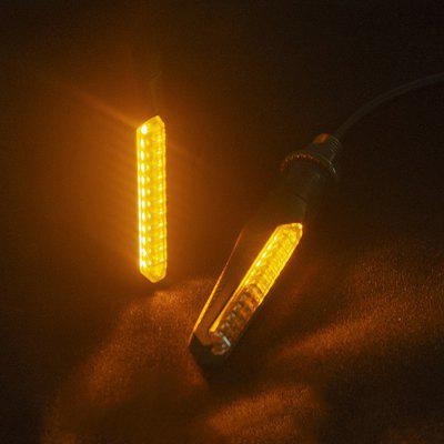 Flowing Motorcycle Turn Light Waterproof LED Amber Lights 2PCS