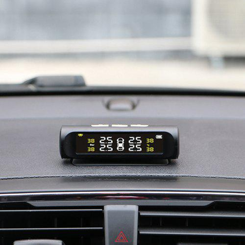 Gearbest Car Tire Tyre Wheel Pressure Gauge Wireless Solar External Tester - BLACK