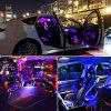 Cool Ambient Light DJ Colorful Sparkling Decoration Ambient Light 6 Light Car Decorative Light - MULTI