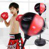 Children Vertical Boxing Speed Ball Boxing Gloves Set Combination Sports Toys Inflatable Big Boxing - RED