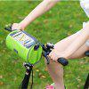 Bicycle Mountain Bike Saddle Upper Tube Front Beam Riding Equipment Accessories Mobile Phone Bag - GREEN