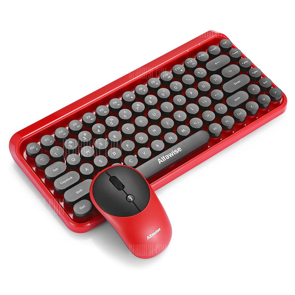 Alfawise K800 2 in 1 2.4GHz Wireless Keyboard Mouse Combo - RED