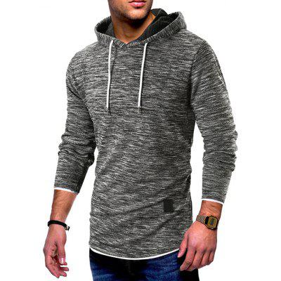 Spring And Autumn New Fashion Popular Solid Color Spliced Hoodie
