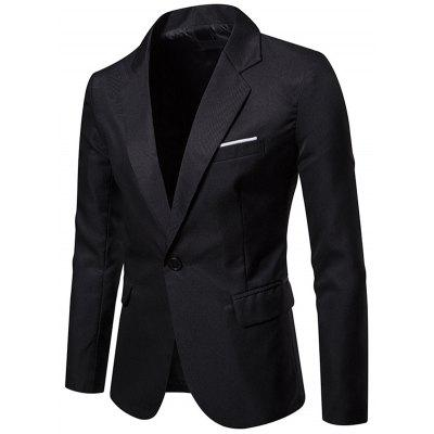 X09 Autumn Men Suit Simple Solid Color One Button Jacket