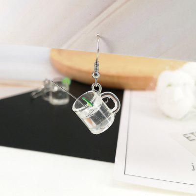 Fashion Mini Lemonade Cup Earrings 2pcs