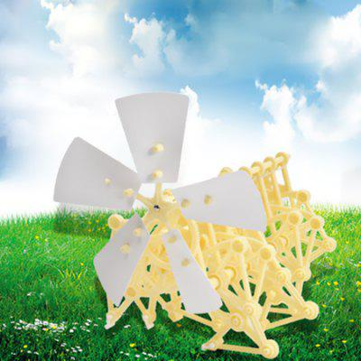 Puzzle Science Children Creative Diy Hand-assembled Wind Energy Mechanical Beast Toy
