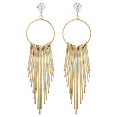 Zircon Exaggerated Hypoallergenic Female Metal Long Tassel Earring Fashion Jewelry