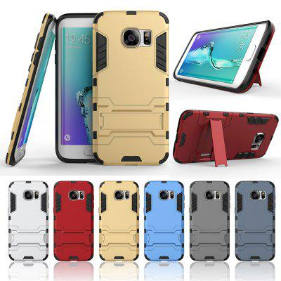 Armor All-inclusive Bracket Three-in-one Matte Drop-proof Protective Shell Mobile Phone Case for Samsung Galaxy S7 Edge