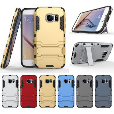 Armor All-inclusive Bracket Three In One Matte Drop-proof Protective Shell Mobile Phone Case for Samsung Galaxy S7