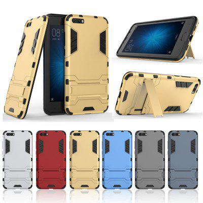 Armor All-inclusive Bracket Three-in-one Matte Drop-proof Protective Phone Case for Xiaomi Mi 6 Plus
