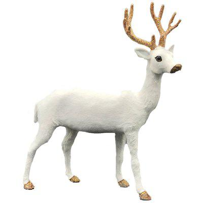 A79 Christmas Moose Simulation White Deer Home Small Ornaments