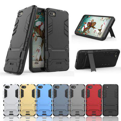 Armor All-inclusive Bracket Three-in-one Matte Drop-proof Protective Mobile Phone Case for Xiaomi Redmi 6A