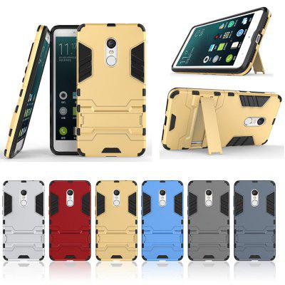 Armor All-inclusive Bracket Three-in-one Matte Drop-proof Protective Phone Case for Xiaomi Redmi Note 4