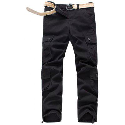 008 Overalls Men's Casual Trousers Loose Straight Pants