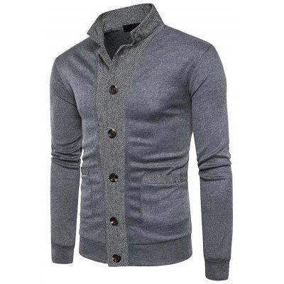 Men Sweater Casual Button V-neck Sweaters Long Sleeve Cotton Knit Cardigan Slim Fit Pull Homme