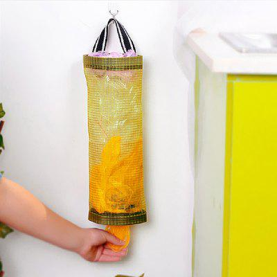 Transparent Grid Hanging Kitchen Garbage Storage Bag