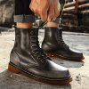 Fashion High-top Martin Boots for Men - BLACK