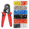 Crimper Plier Set 0.25-10mm2 Self-adjustable Ratchet Wire Crimping Tool with 1200 Wire Terminal Crimp Connector - RED